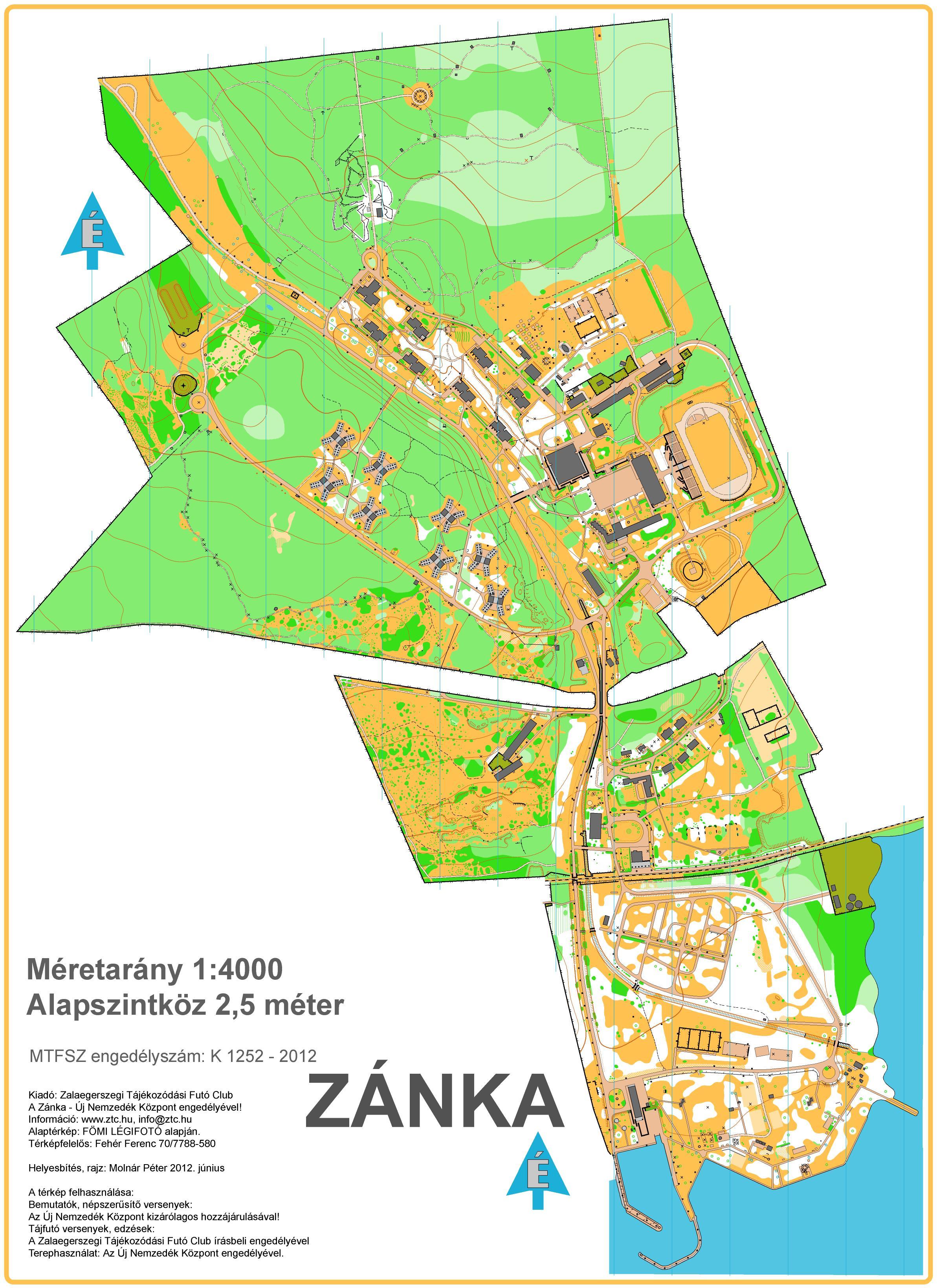 zánka térkép MTFSZ Adatbank   Országos Diákolimpia zánka térkép